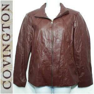Covington Wine Leather Jacket